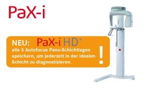 alle 5 Autofocus Pano-Schichtlagen speichern, um jederzeit in der idealen Schicht zu diagnostizieren
