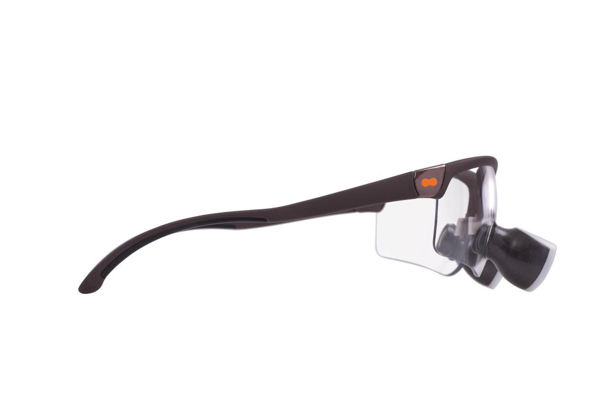 opt-on Lupenbrille Fassung Kupfer matt