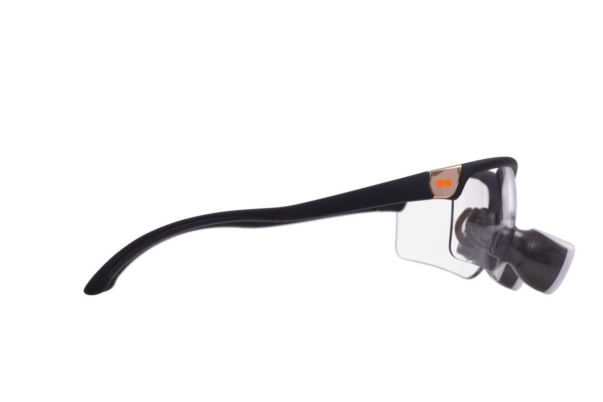 opt-on Lupenbrille Fassung Schwarz matt